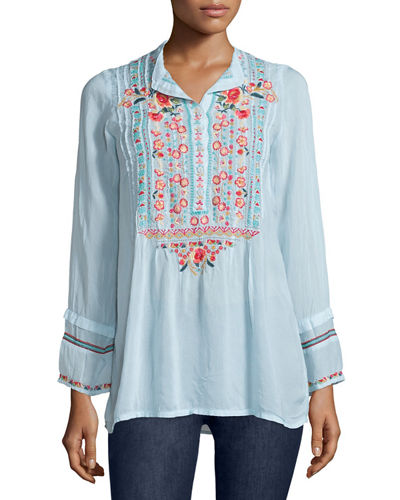 Johnny Was Collection Catra Embroidered Tunic