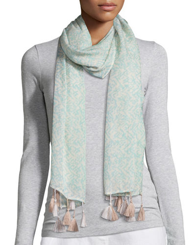 Eileen Fisher Erased Chevron Silk Cashmere Wrap