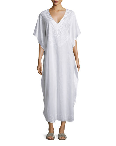 Mossell Embroidered Long Caftan