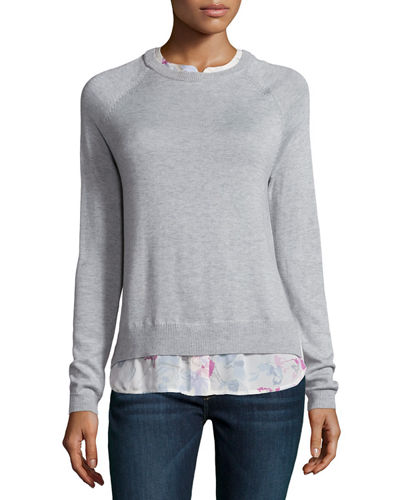 Joie Zaan Sweater-Shirt Combo Top