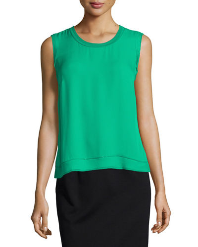 Denver Sleeveless Silk Blouse