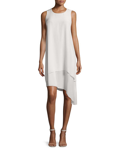 Eileen Fisher Double-Layer Silk Dress