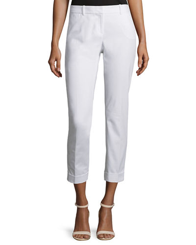 Lafayette 148 New York Downtown Slim-Leg Cropped Pants