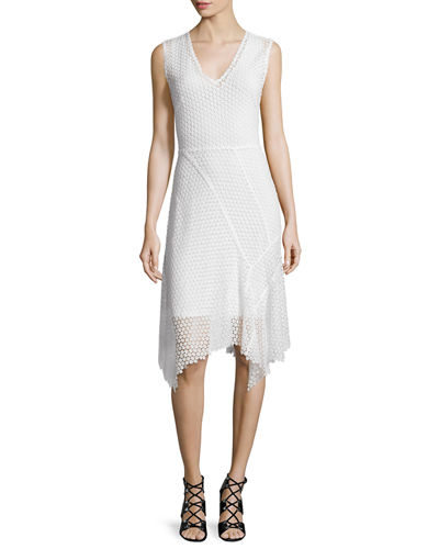 Eloise Embroidered-Lace Sheath Dress