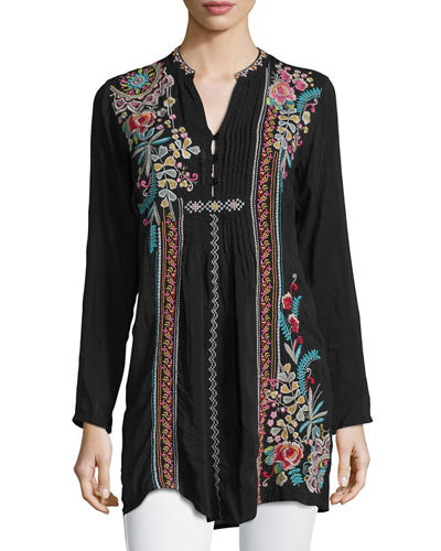 Johnny Was Sheela Embroidered Long Tunic, Plus Size