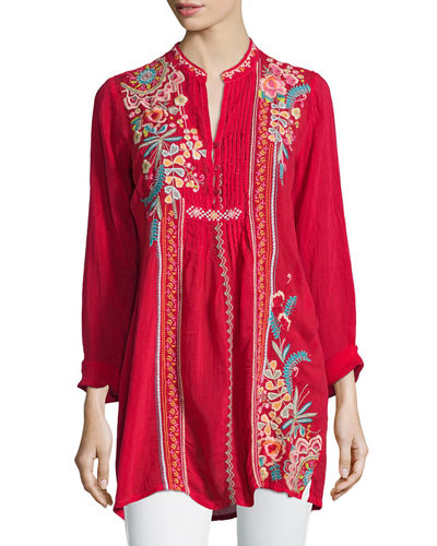 Johnny Was Collection Sheela Embroidered Long Tunic