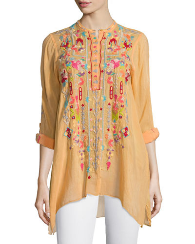 Johnny Was Collection Jezabelle Embroidered Tunic Top, Plus