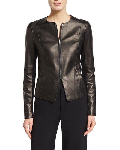 Vince Tailored Slim-Fit Leather Jacket