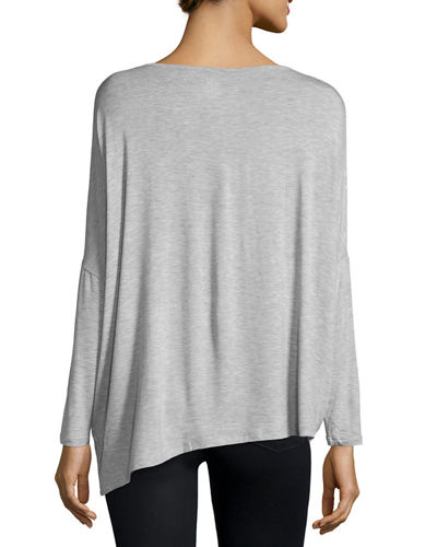 Long-Sleeve Asymmetric Tee