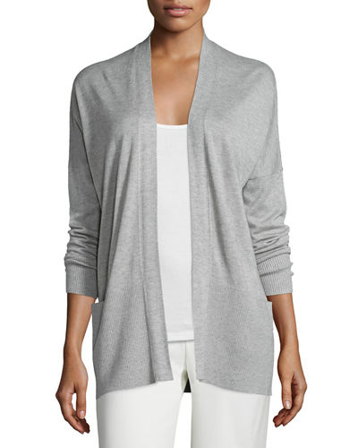 Vince Cashmere-Silk Open-Front Cardigan