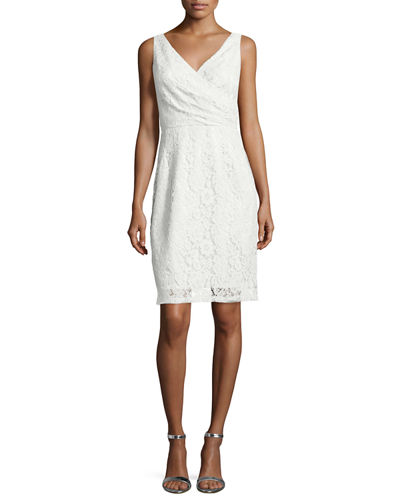 Donna Morgan Sleeveless Lace Cocktail Dress