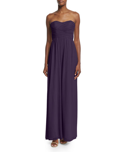Strapless Ruched Gown