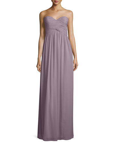 Donna Morgan Strapless Sweetheart Ruched Gown