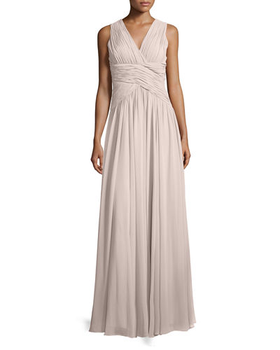 Paloma Sleeveless Ruched Gown