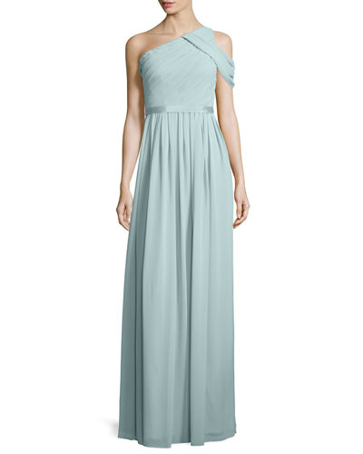 Donna Morgan Chloe One-Shoulder Chiffon Gown