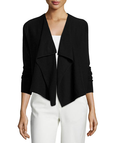 Vince Cashmere Draped-Front Cardigan