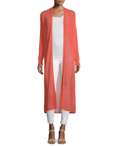 Open-Weave Long Duster