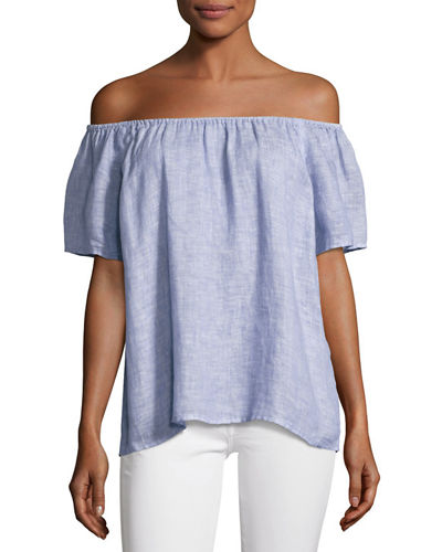Joie Amesti B Off-The-Shoulder Linen Top