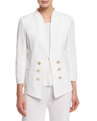 3/4-Sleeve Button-Front Jacket