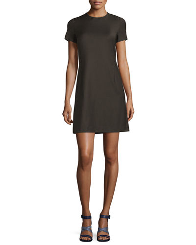 Theory Jatinn Continuous Wool-Blend Shift Dress