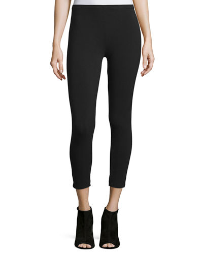 Joan Vass Stretch-Jersey Leggings, Plus Size