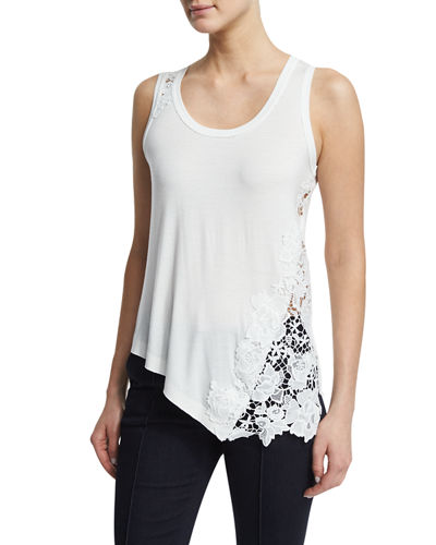 Melanie Lace-Inset Tank Top