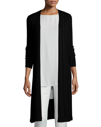 Linear Knit Maxi Cardigan Online Cheap