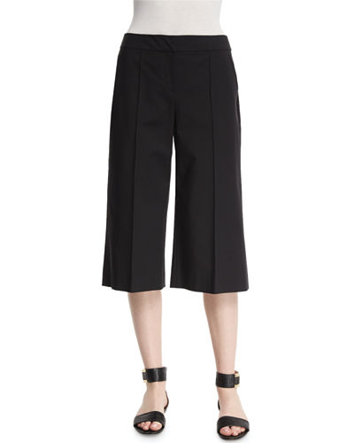Kenmare Cropped Crepe Culottes