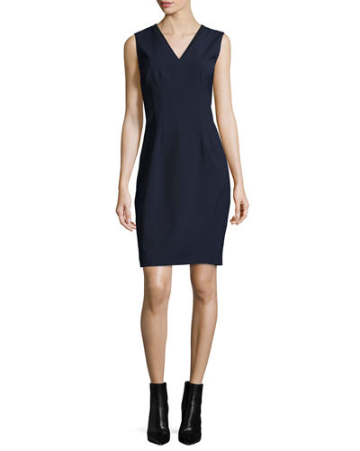 Gwenyth Sleeveless V-Neck Sheath Dress