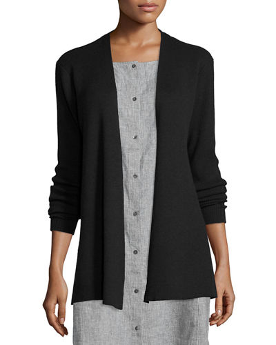 Eileen Fisher Long Washable Wool Cardigan