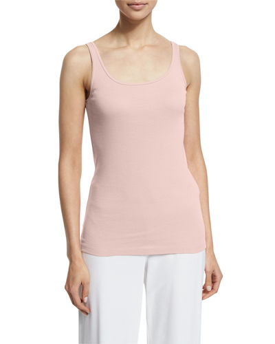 Eileen Fisher Scoop-Neck Long Slim Tank, Plus Size
