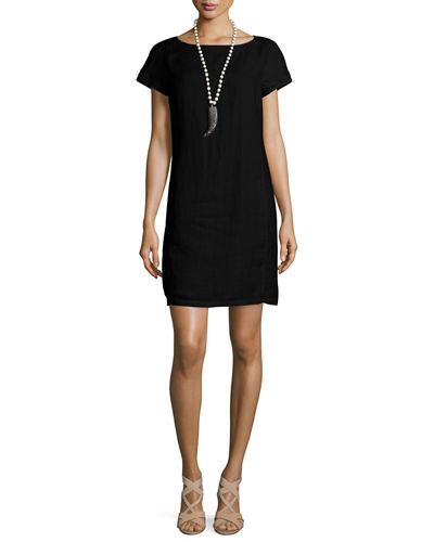 Eileen Fisher Classic Short-Sleeve Sheath Dress