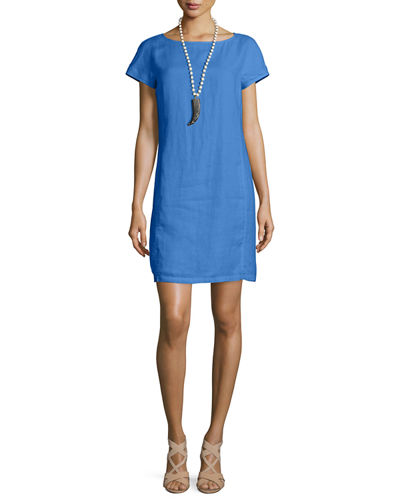 Eileen FisherClassic Short-Sleeve Sheath Dress