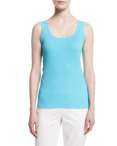 Scoop-Neck Ribbed Tank