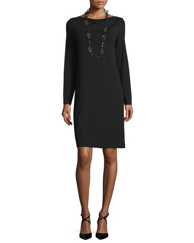 Eileen Fisher Long-Sleeve Jersey Dress