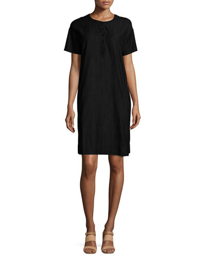 Eileen FisherClassic Short-Sleeve Shift Dress