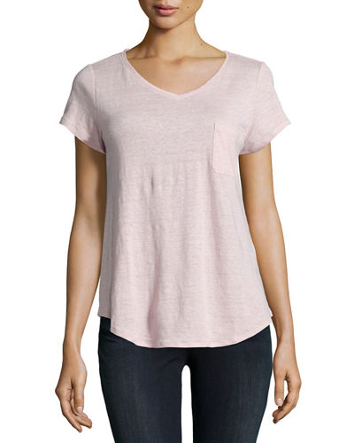 Eileen Fisher Classic Short-Sleeve V-Neck Tee