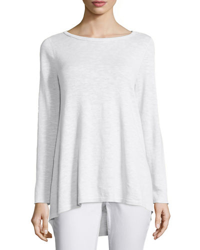Eileen Fisher Long-Sleeve Organic Slub Top