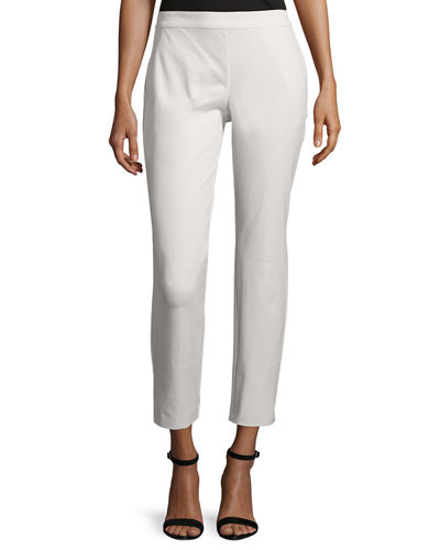Eileen Fisher Cropped Skinny Organic Twill Pants