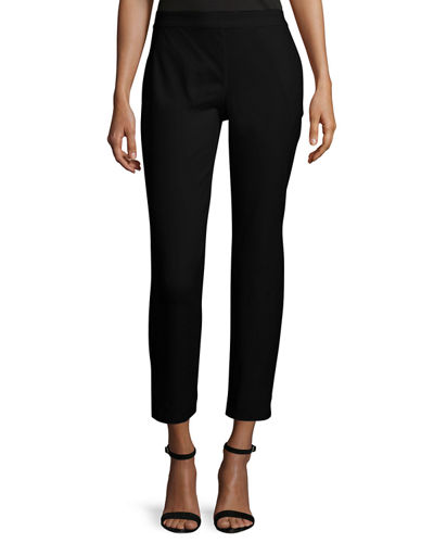 Cropped Skinny Organic Twill Pants, Plus Size