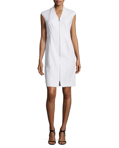 Lafayette 148 New York Imani Sleeveless Zip-Front Sheath