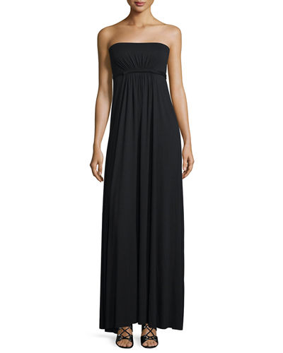 Rachel Pally Strapless Empire-Waist Caftan Maxi Dress
