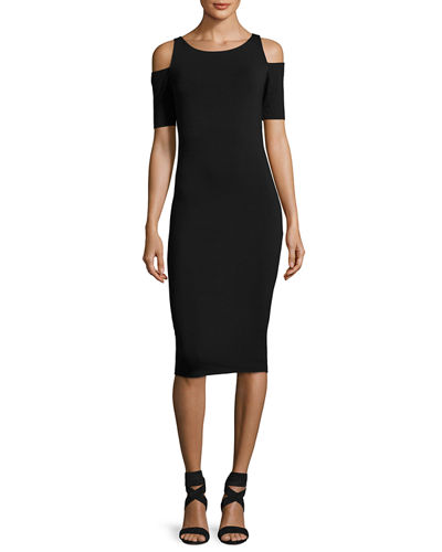 Deneuve Cold-Shoulder Bodycon Dress