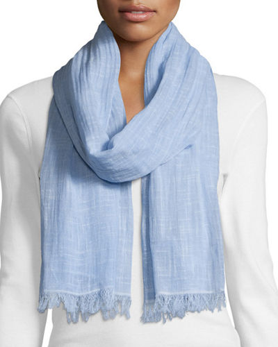 Eileen Fisher Maltinto Crosshatch Artisanal Scarf