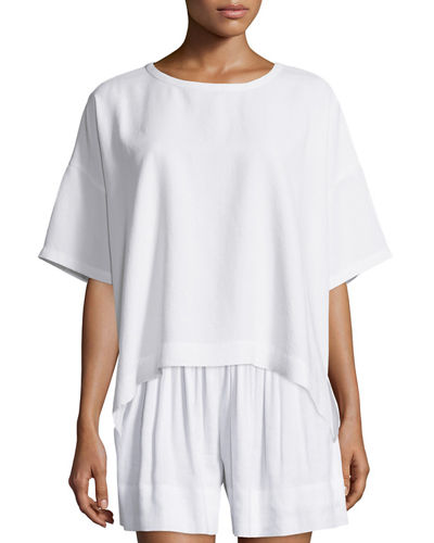 Short-Sleeve Square Top