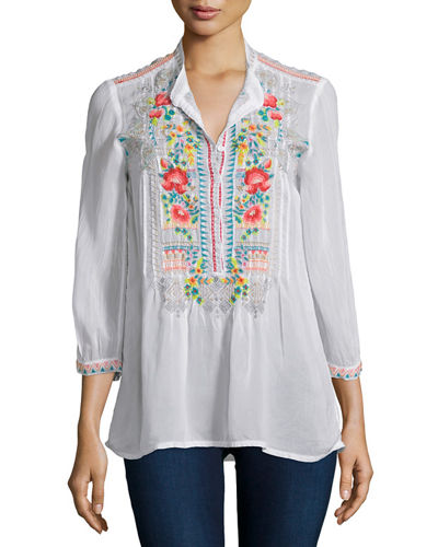 Johnny Was Collection Mandala Embroidered Tunic