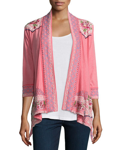 Sabine Embroidered Wrap Jacket