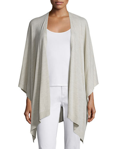 Eileen Fisher Fisher Project Artisan Merino Poncho Cardigan