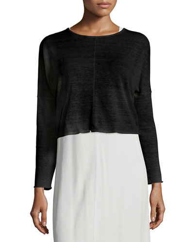 Eileen Fisher Long-Sleeve Crop Top