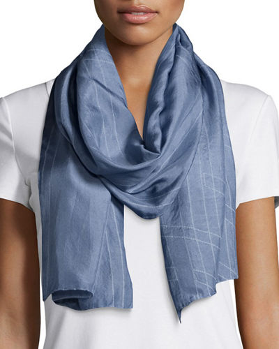 Eileen Fisher Angled Perspective Silk Scarf